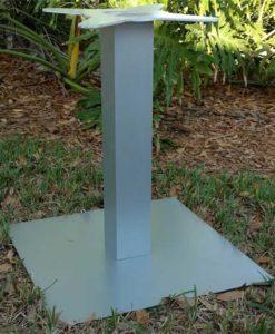 Square Pedestal Table Base